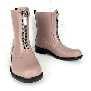Frye Storm Zip Up Waterproof Engineer Rain Boots Pink Size 8